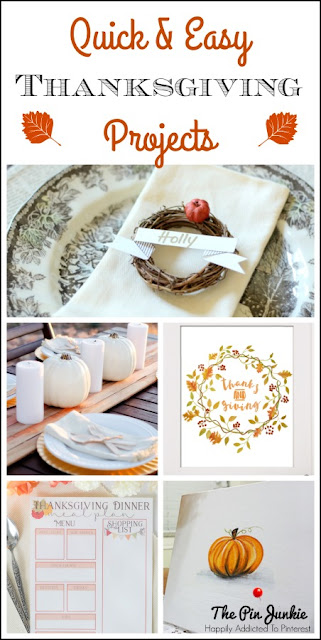 quick & easy Thanksgiving projects