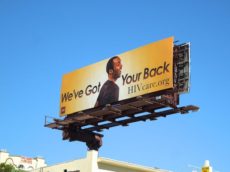 we got your back HIV billboard