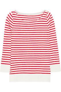 J.Crew, červeno biele pásikavé tričko