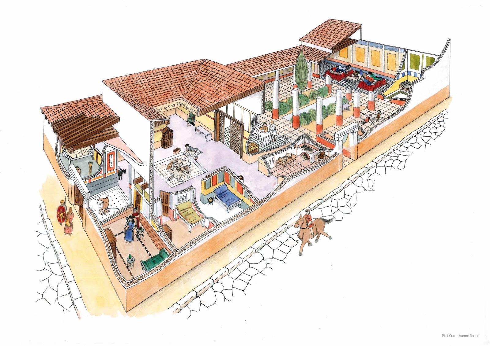 pix39 l com39 ecorche d39une villa gallo romaine With croquis d une maison 8 pix l com ecorche dune villa gallo romaine