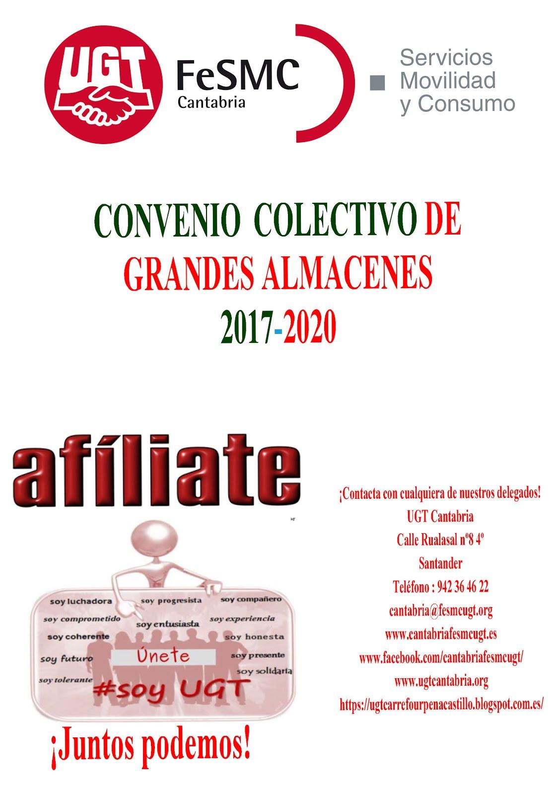 Bájate el Convenio Colectivo de Grandes Almacenes 2017-2020