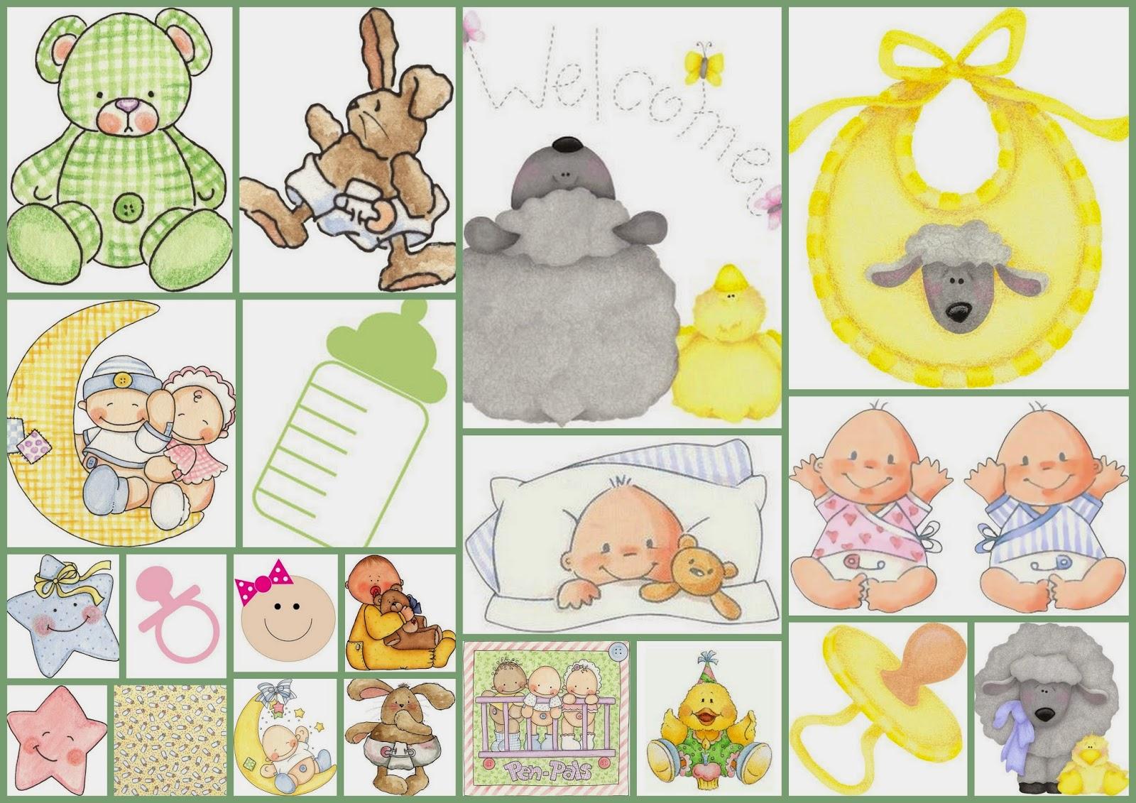 Tiernas Imágenes para tus Fiestas de Bebés.