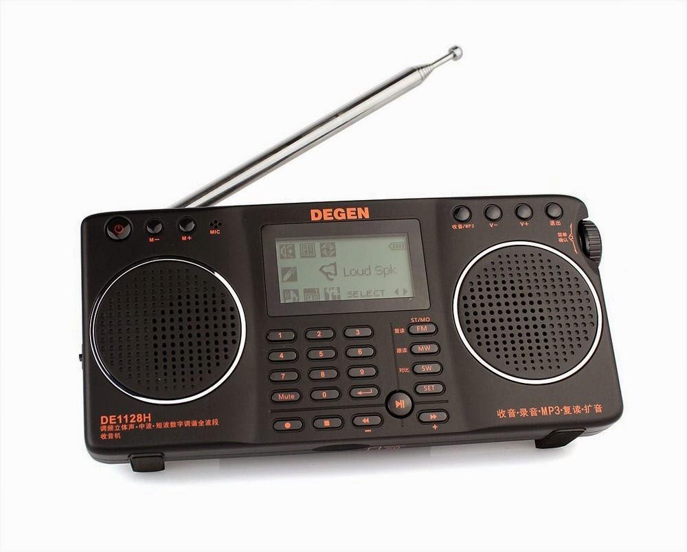 Мультимедийный, всеволновый, цифровой радиоприемник Degen DE-1128 с MP3 плеером, диктофоном и USB