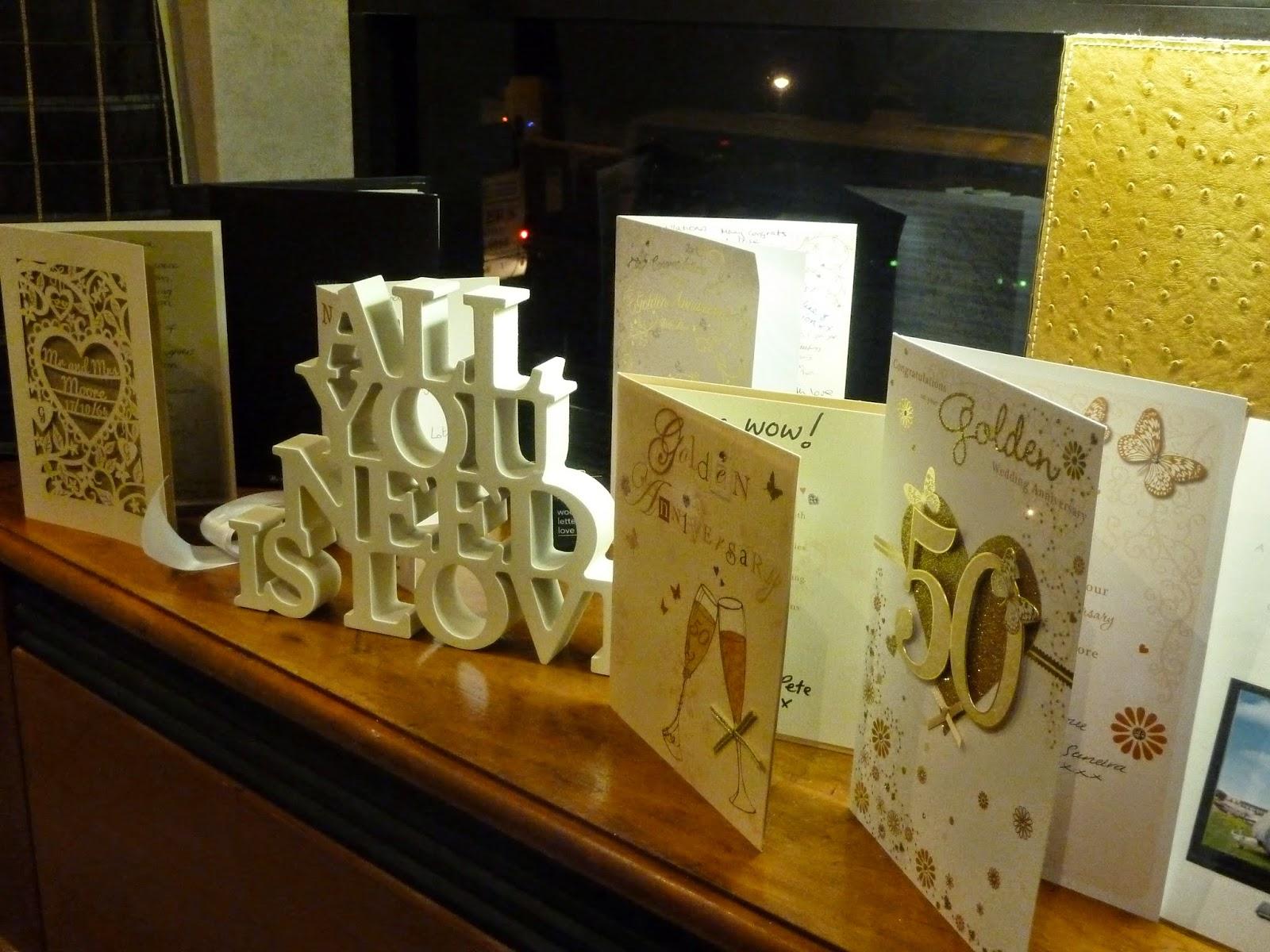 Golden Wedding Anniversary Cards