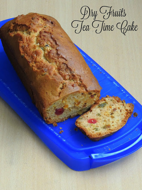 Dry fruits tea time cake, Fruits tea cake