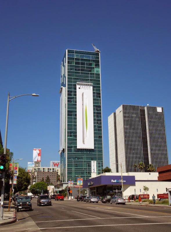 Giant iPhone 6 billboard Sunset Vine