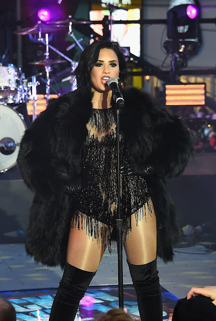 Actress, Singer, Model, @ Demi Lovato - performing on New Year's Eve in Times Square, NYC