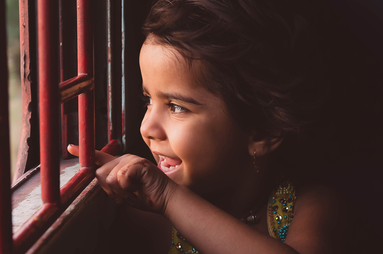 sanjay photo world: cute & sweet girl in train window