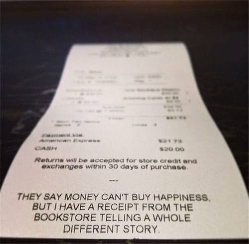 Library receipt