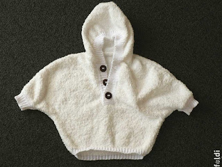 hooded baby sweater poncho