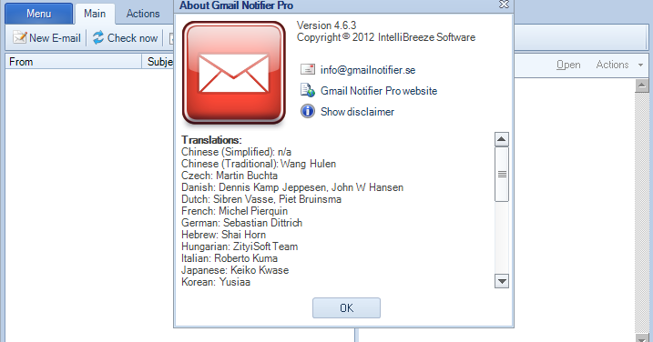 Gmail Notifier Pro - Full Version | Free Download Crack Serial All Software