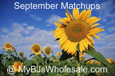 BJ's Coupon Matchups - September 2012