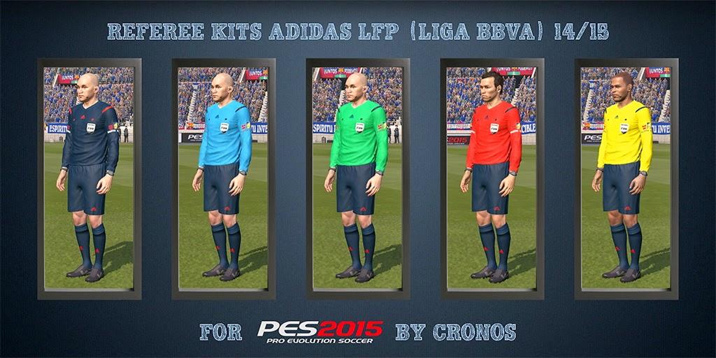 PES 2015 Referee Kits Adidas Liga BBVA 14/15 + Adidas UEFA Champions League 14/15 CPK