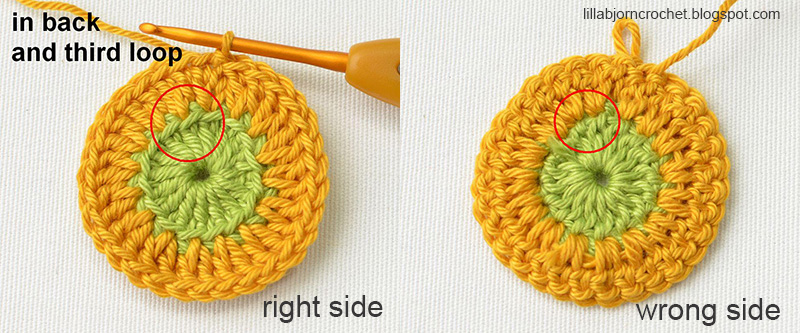 Crocheting Right Side And Wrong Side : TIP: crochet in Back Loops with NO Holes LillaBj?rns Crochet World