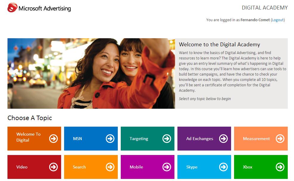 Comet goes NewYork: Microsoft Advertising: Digital Academy