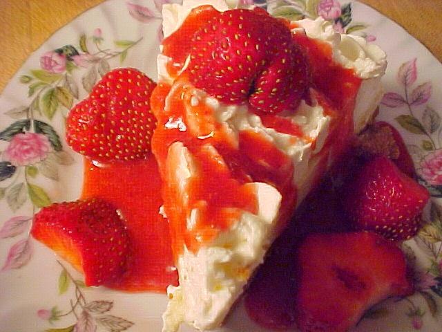 Décadent trois étages aux fraises