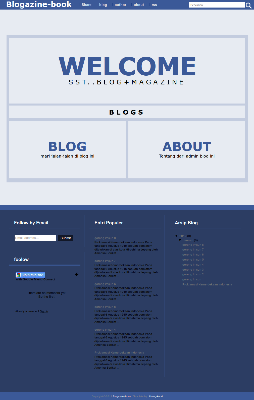 blogger buster and inspiring blogger templates inspired by the design of facebook this blogger template utilizes a unique home page style links to the main blog and about sections