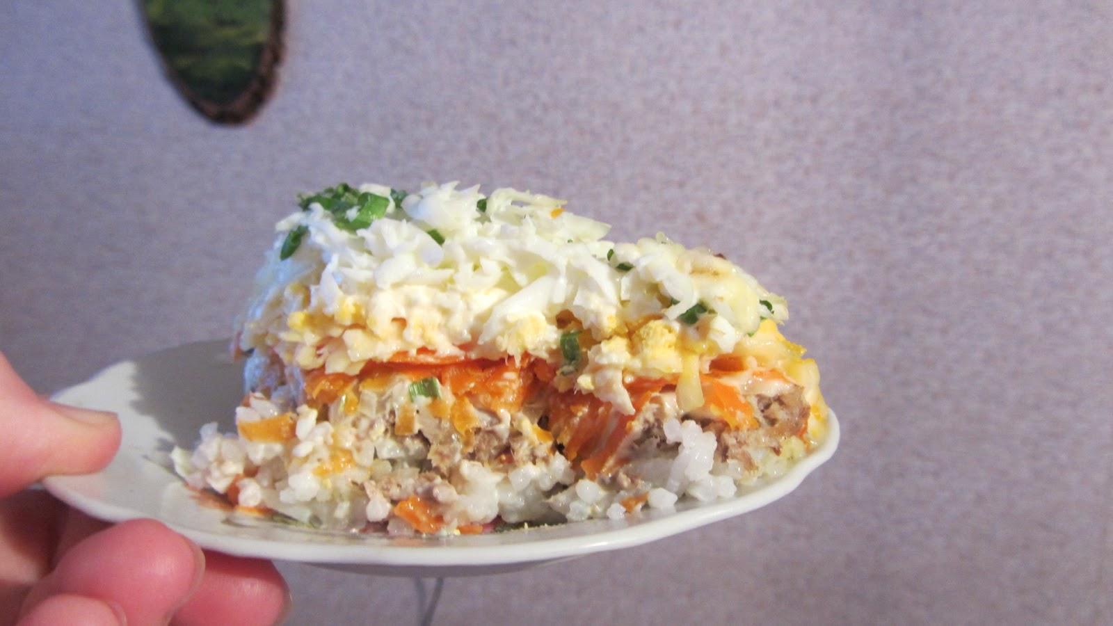 Салат мимоза классический рецепт с рисом