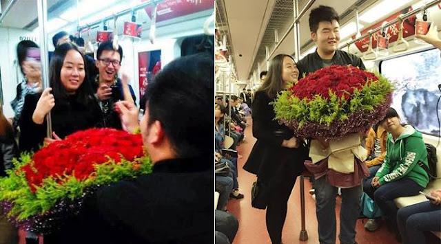 Melamar kekasih dengan menyewa kereta api