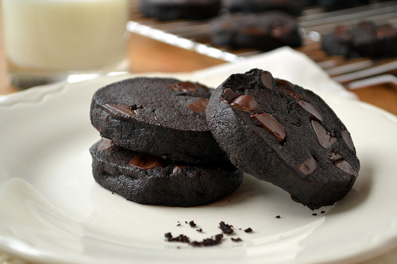 Double Dark Chocolate Shortbread Cookies | The View from ...