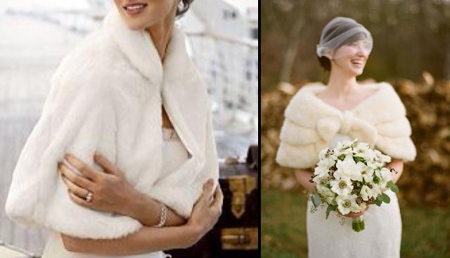 Boleros de piel para novias de invierno