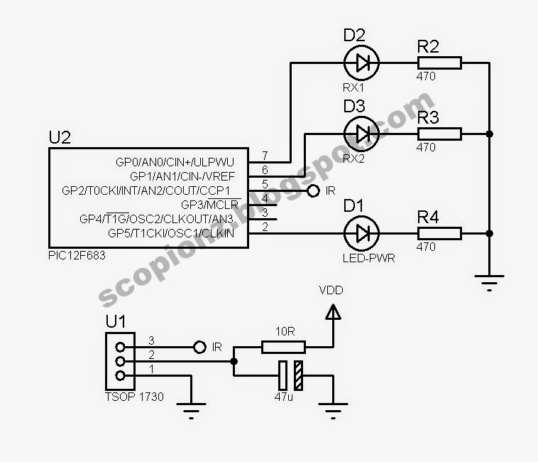 Remote Control Receiver Schematic