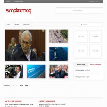 Simplex Mag blogger template. magazine blogger template. template magazine blogspot