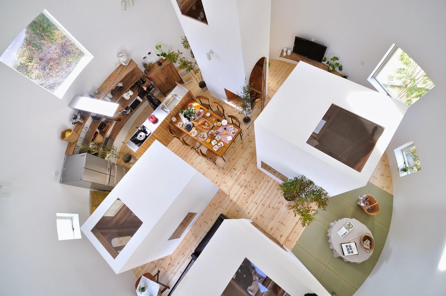 Interior Lantai 2 Rumah Bulat