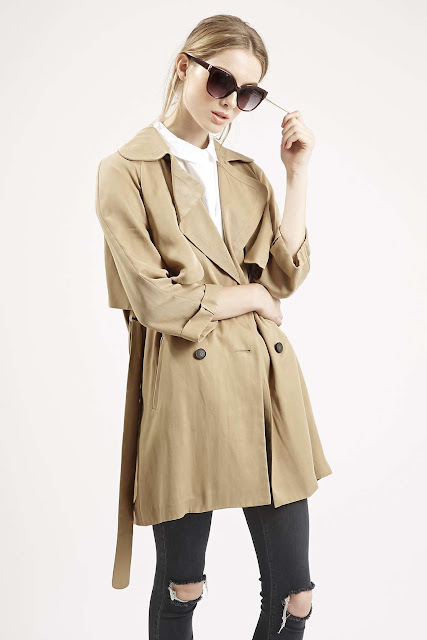 70s style trenchcoat, 70s style mac, belted duster coat, beige trenchcoat, topshop trenchcoat, belted trenchoat,