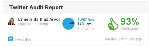 Twitter Audir Report de Esmeralda Diaz-Aroca