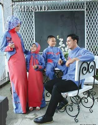 Baju Muslim Lebaran Keluarga Modis Terbaru