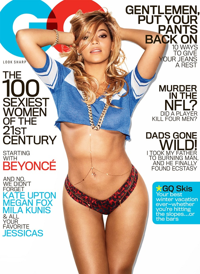Beyonce shows off curves for GQ Magazine, February 2013