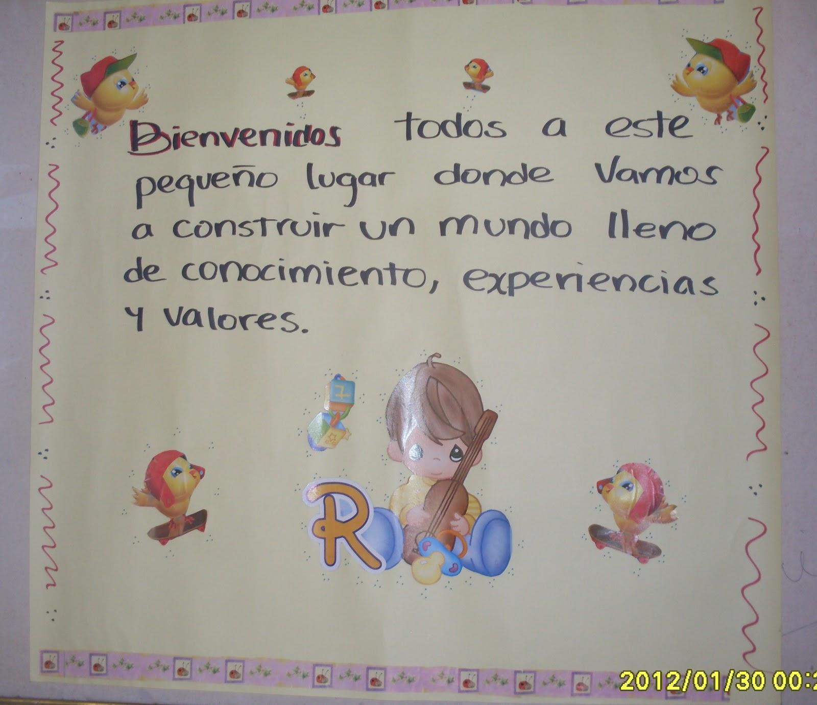 Escuela Rural Kilometro 6: Carteleras de bienvenida año escolar 2012