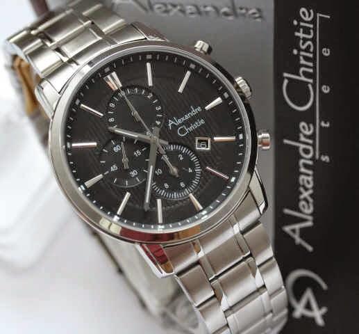 Alexandre Christie 6346 SS Silver Hitam