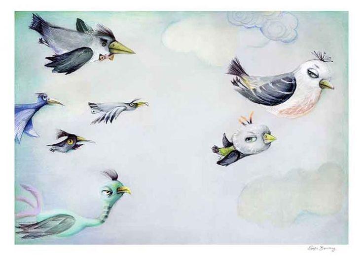 illustration fra en børnebog der nu er blevet til et kunst print fra Sofie Børsting