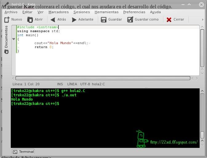 Compilar C Y C En Linux Usando Kate