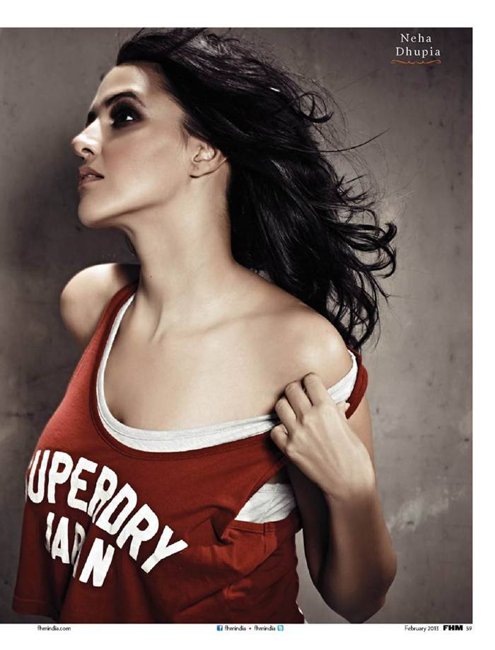 Indian actress and model Neha Dhupia is the cover star of the men's magazine FHM India for their February 2013 issue.