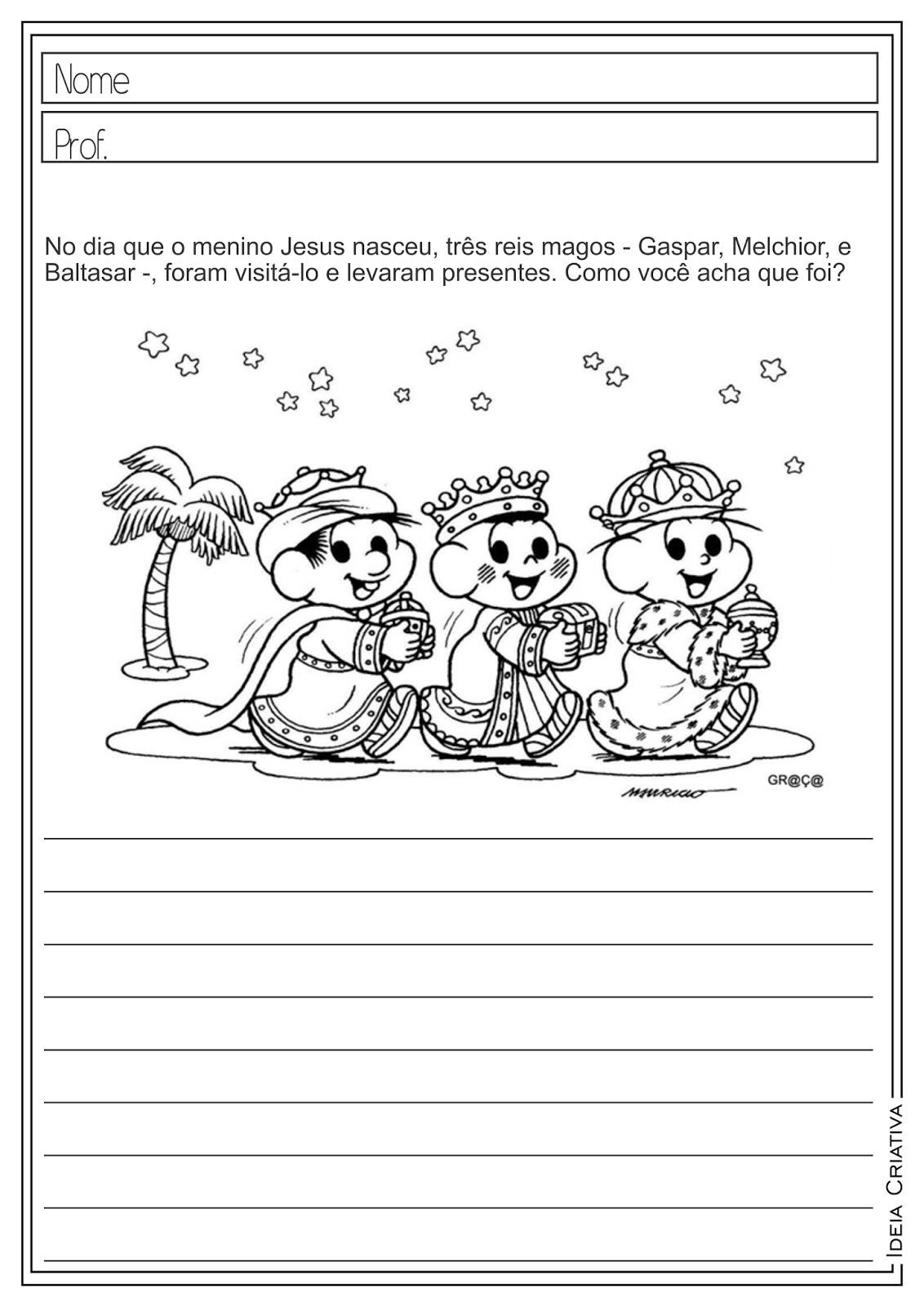 Atividades Educativas Natal Interpretação e Produção de Texto Língua Portuguesa para Ensino Fundamental