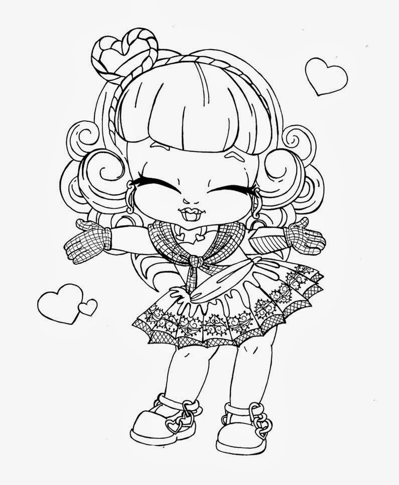 Banco de Imagenes y fotos gratis: Monster High Bebes para Colorear ...
