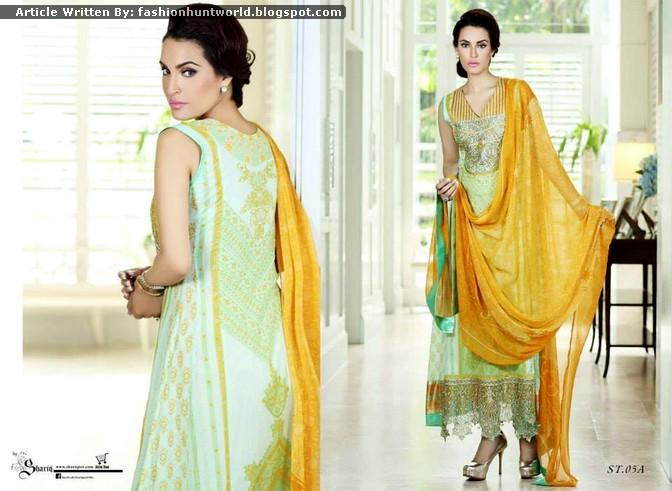 NADIA HUSSAIN - Premium Lawn 2015 By Shariq Textile