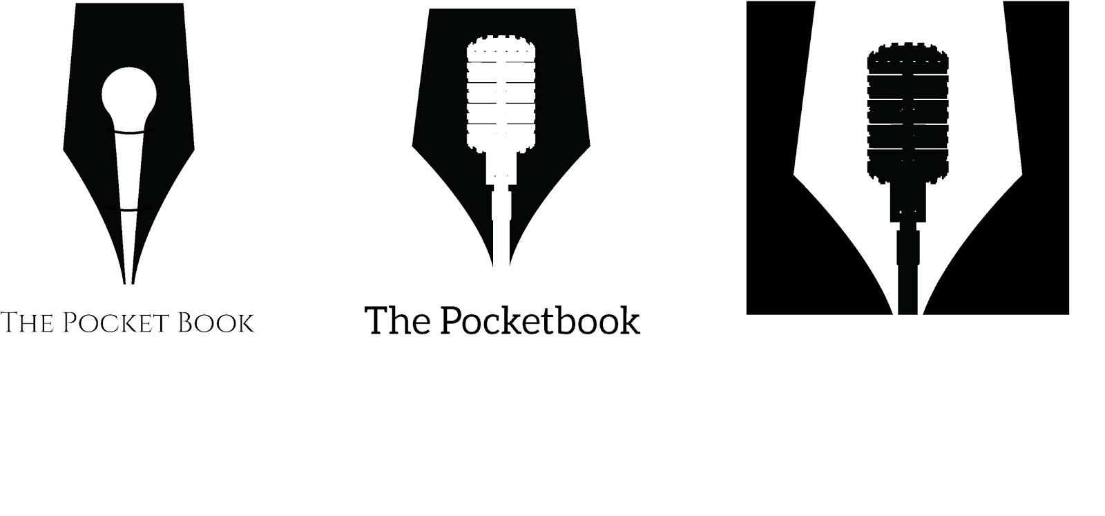 Designer pocketbook logos t and upsidedown t