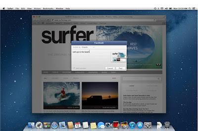 Facebook status update in mac