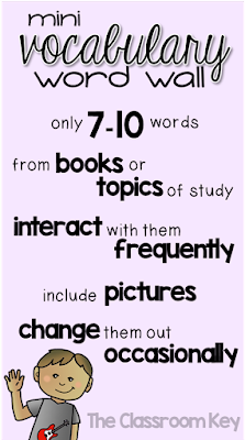 vocabulary word wall