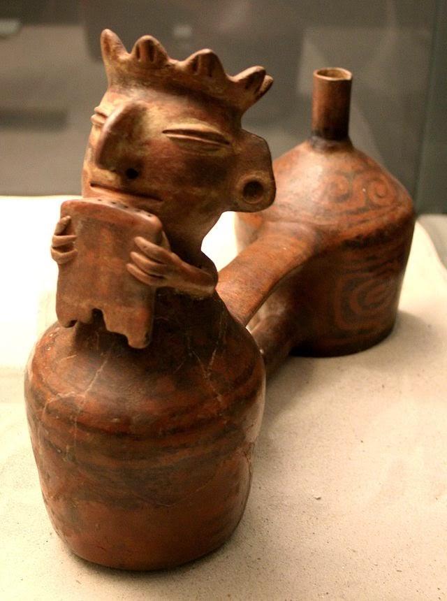 ⓐ Huaco Sibador,  Botella antropomórfica