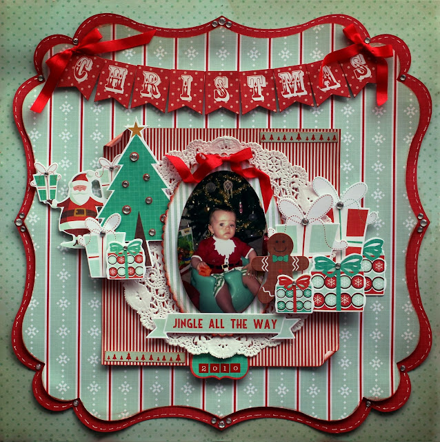 Delightfully crazy christmas 2010 gingerbread kaisercraft for Christmas layout ideas