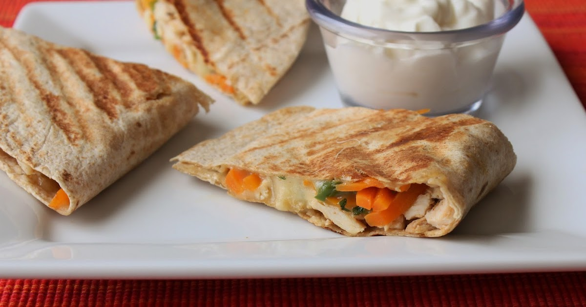 Uma's Culinary World: Garlic Rosemary Chicken Quesadillas