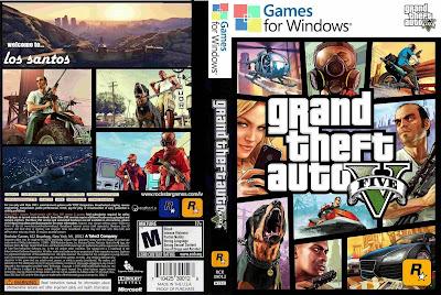 Jogo Grand Theft Auto V [GTA V] DVD Capa