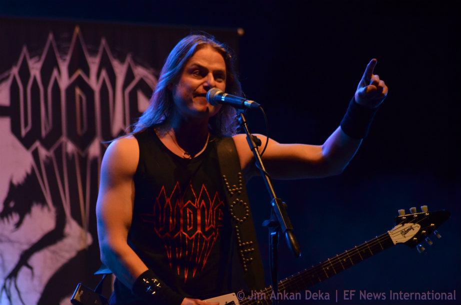 Niklas Stålvind of Swedish Metal band Wolf at Harley Rock Riders in Bangalore, India - Jim Ankan Deka photography