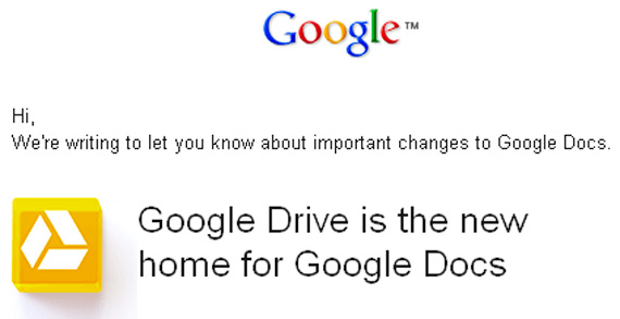Google Docs a fost rebranduit in Google Drive