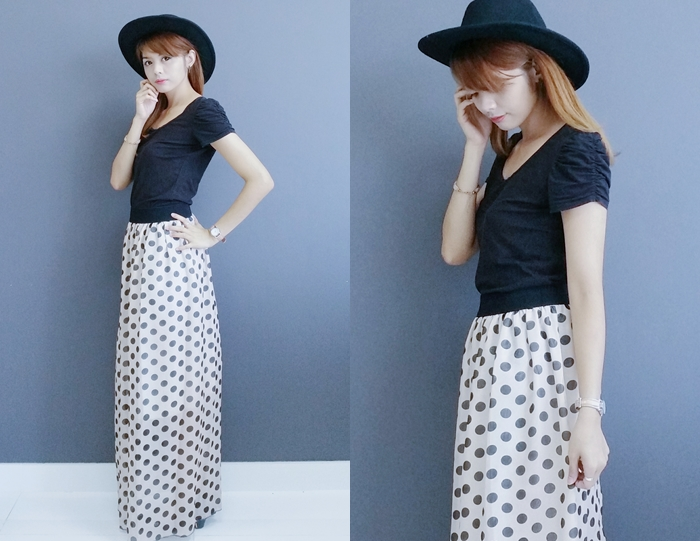 Polka dots outfit